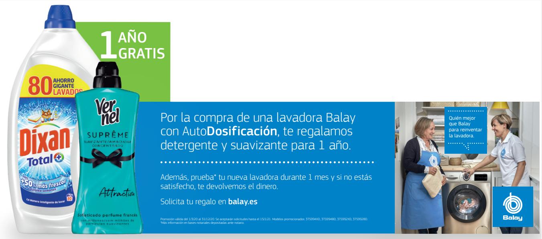 Promoción Balay 1 año de detergente gratis